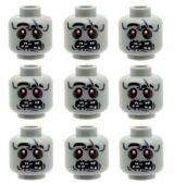 9 Custom Zombie Alien UFO Heads for The Walking Dead Minifigures